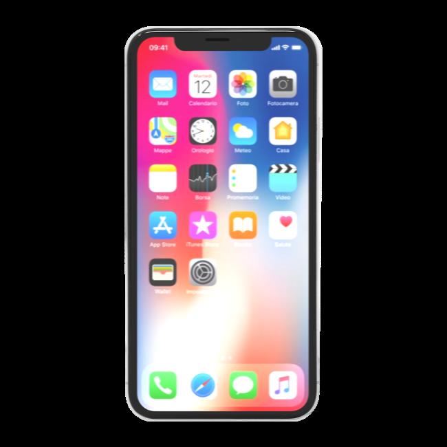 iPhone X 64 GB Argento (Ricondizionato grado A+)