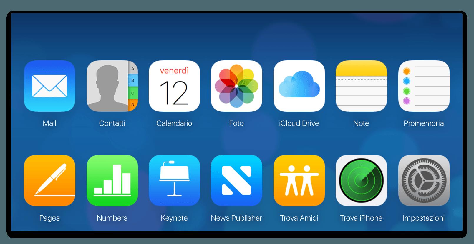 schermata iCloud