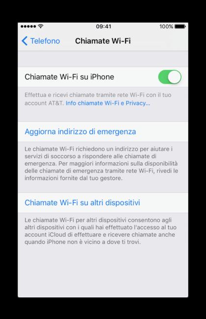 chiamate wi-fi