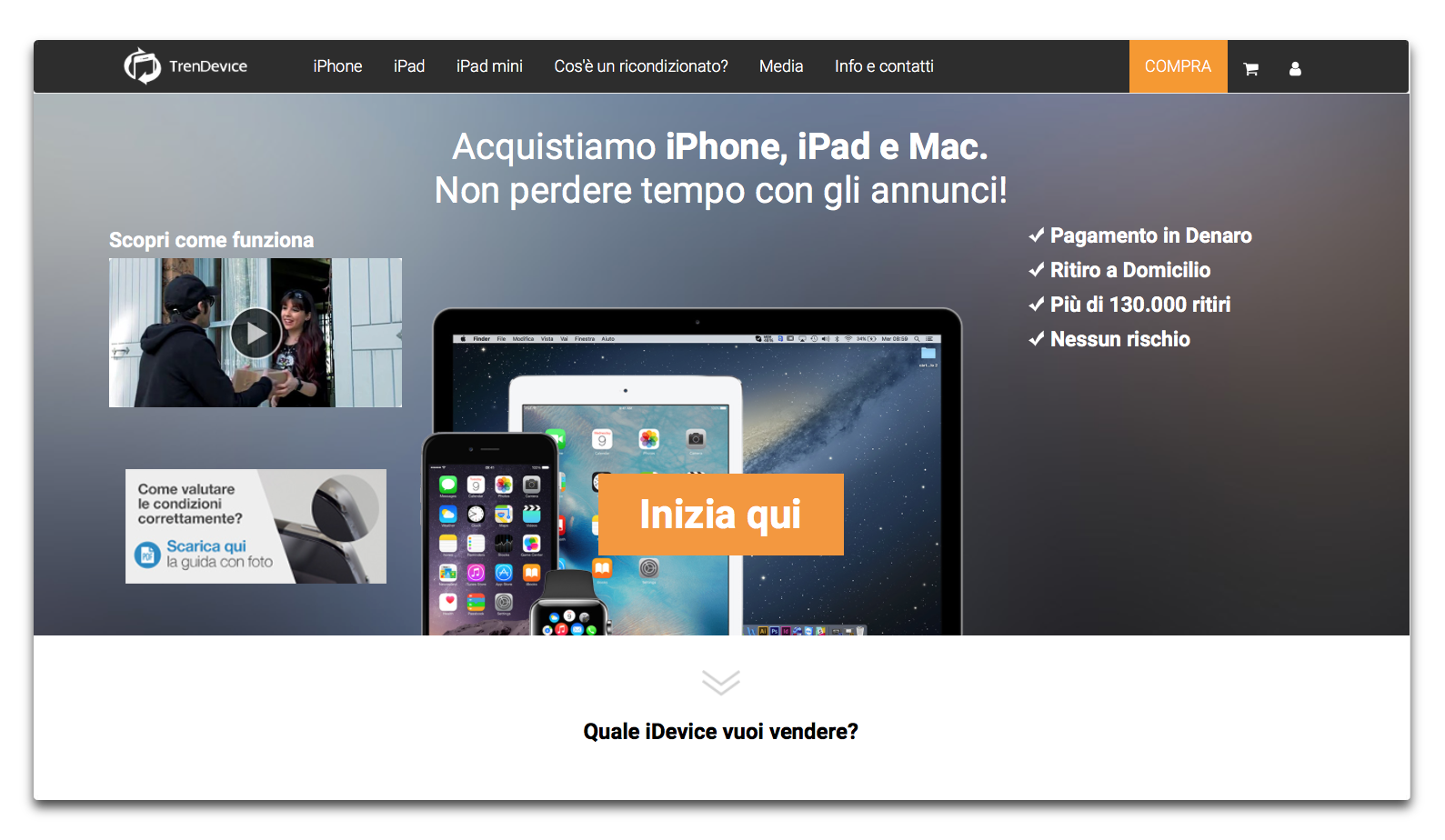 home page trendevice vendi