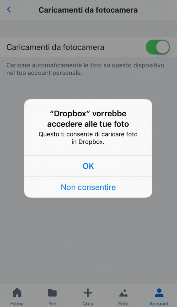 dropbox accesso
