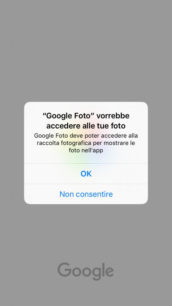 google foto accesso foto