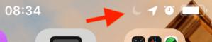 la funzione Non disturbare attivata su un iPhone
