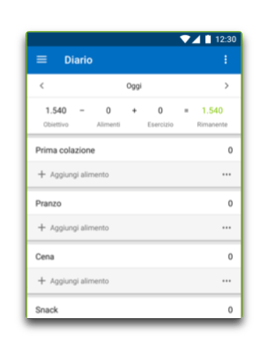 app android contatore calorie