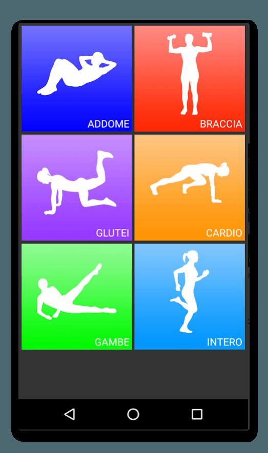 app android esercizi giornalieri