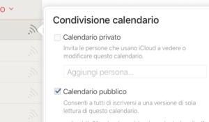 condivisione calendario pubblico