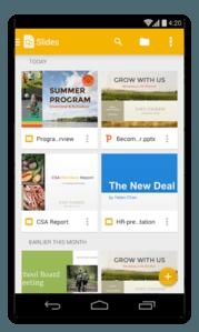 app android presentazioni google