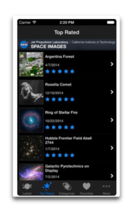 app ios space images